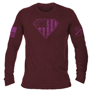 Super Patriot Long Sleeve - Heather Cardinal