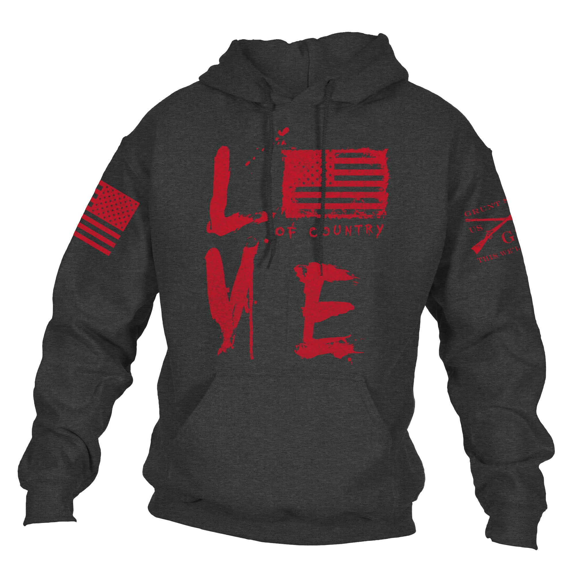 Love Of Country Hoodie - Dark Heather