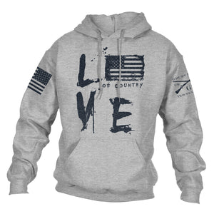 Love Of Country Hoodie - Sport Grey