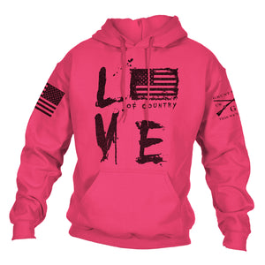 Love Of Country Hoodie - Pink