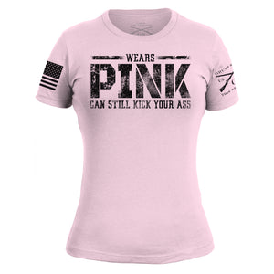 Wears Pink, Kicks Ass - Women's