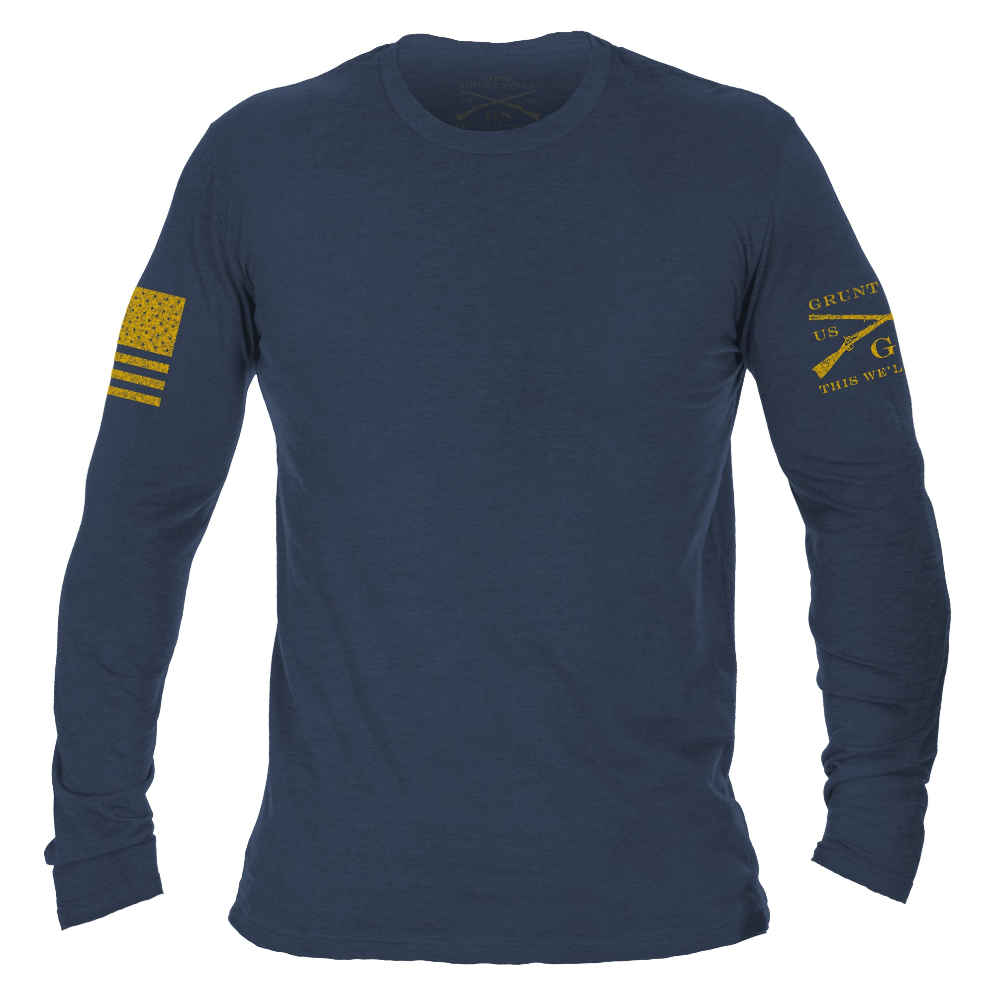 Basic Long Sleeve - Heather Navy