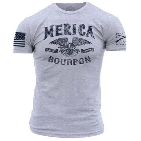 Merica Bourbon Trademark - Heather Grey
