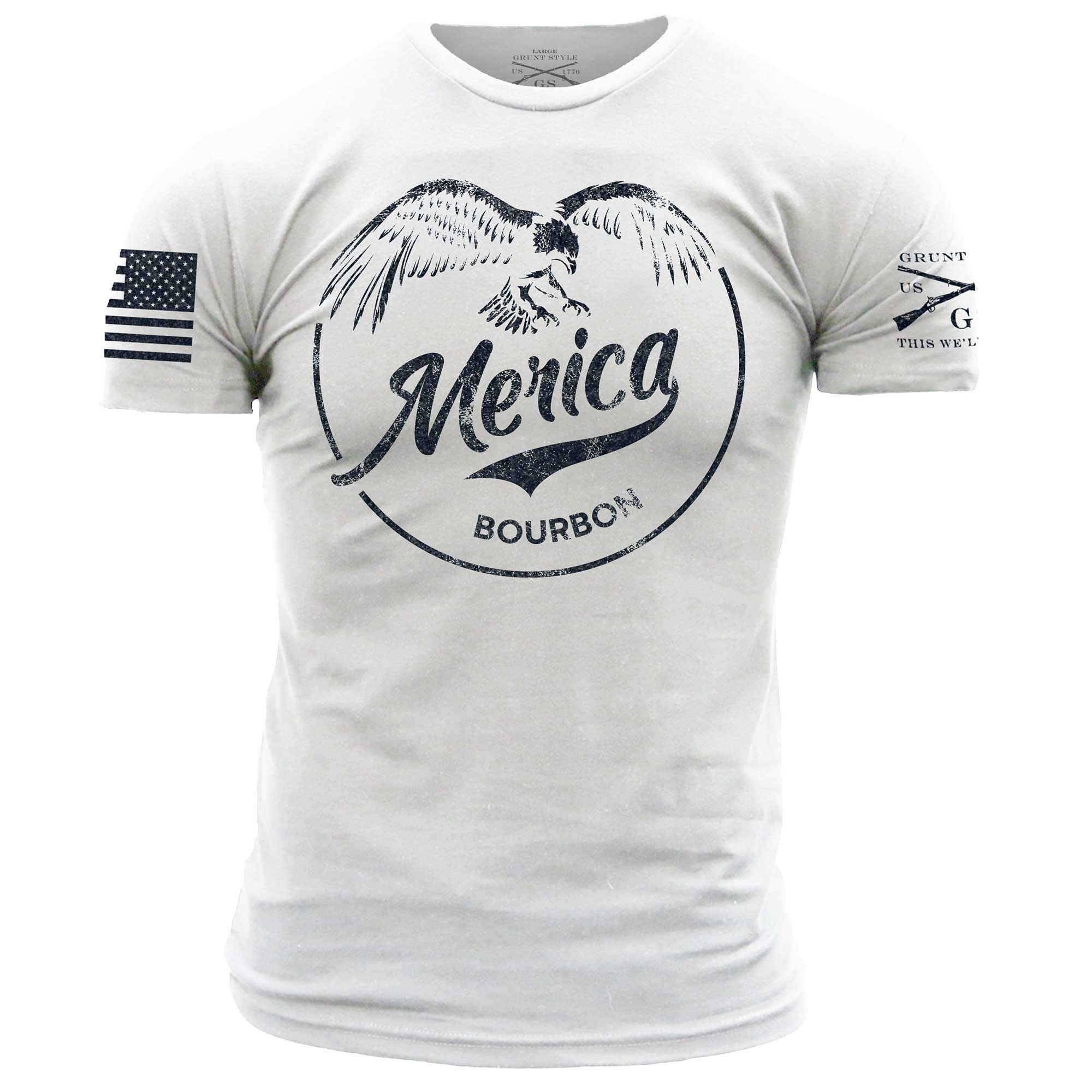 Merica Bourbon Eagle - White