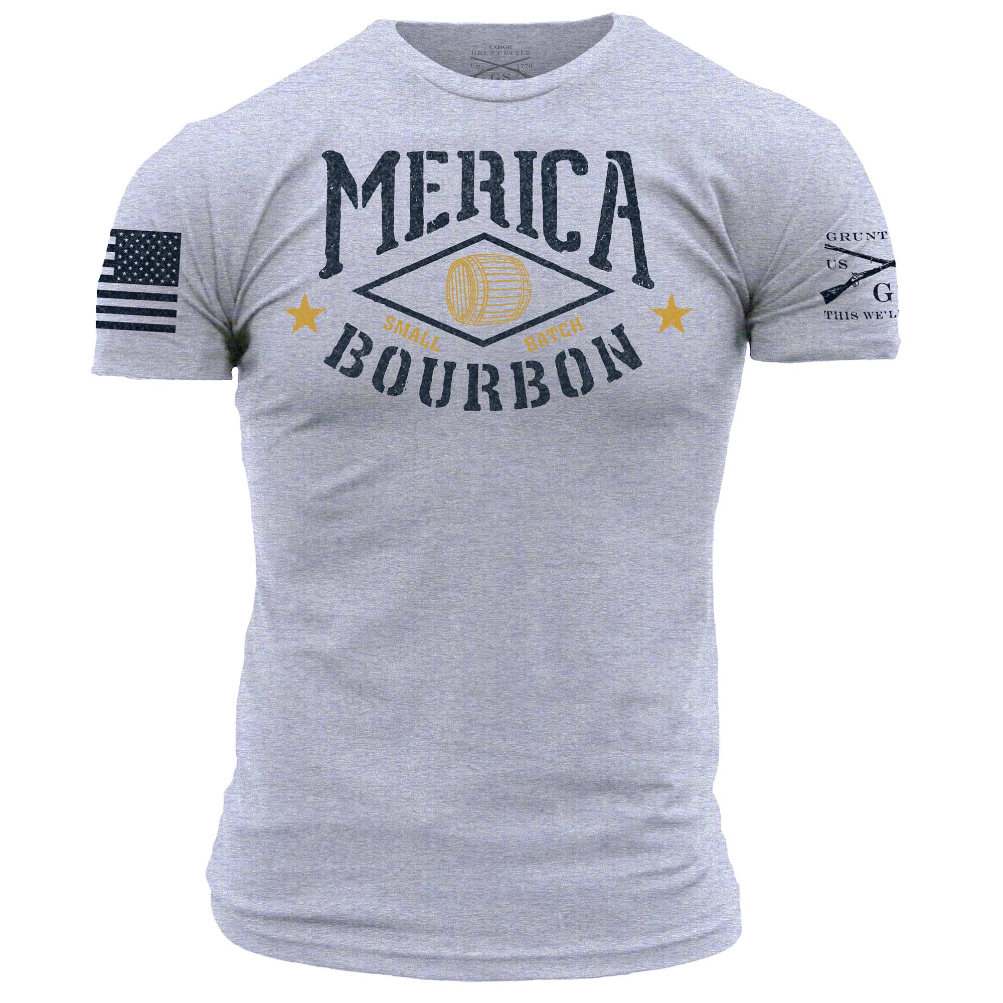 Merica Bourbon Barrel - Heather Grey