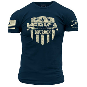 Merica Bourbon Shield - Navy