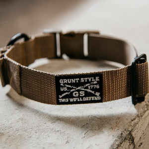 Grunt Style Large Breed Dog Collar - Coyote