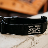 Grunt Style Large Breed Dog Collar - Black