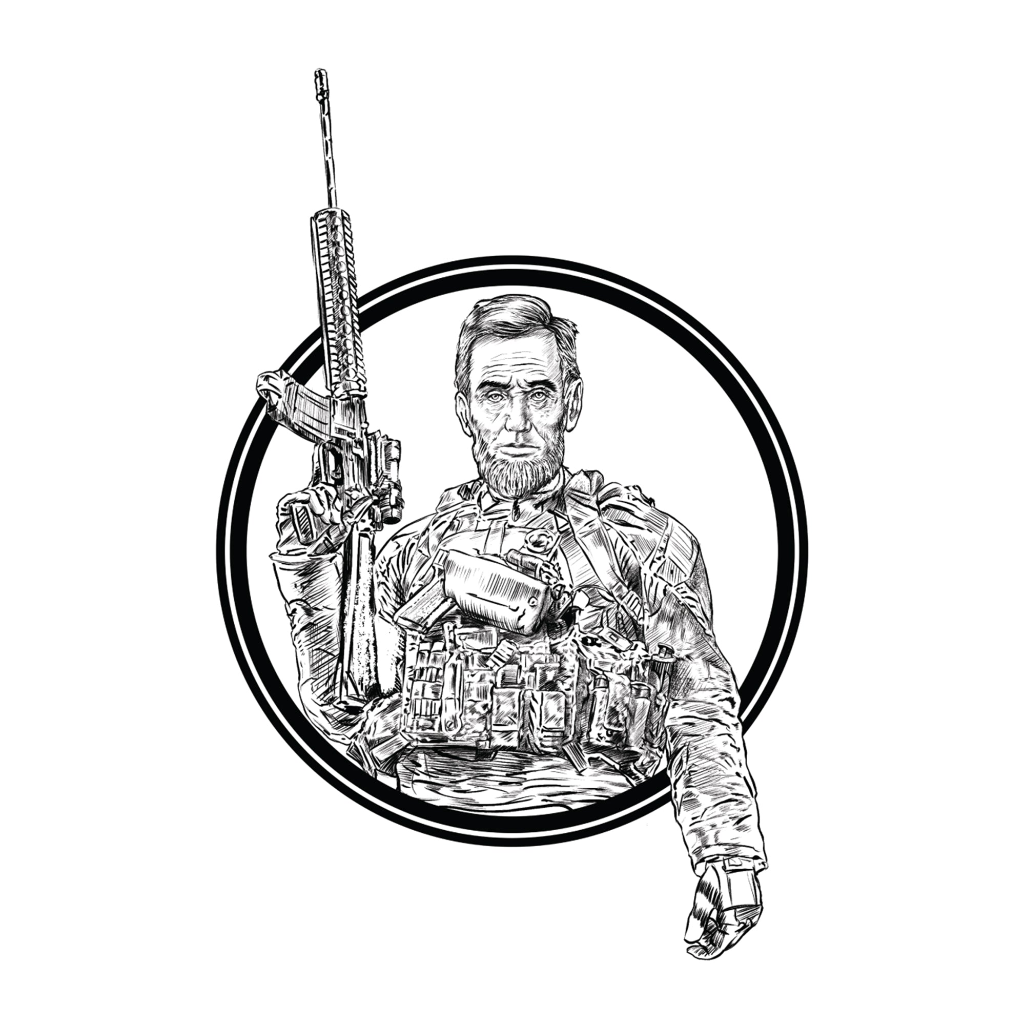 Tactical Abe Sticker