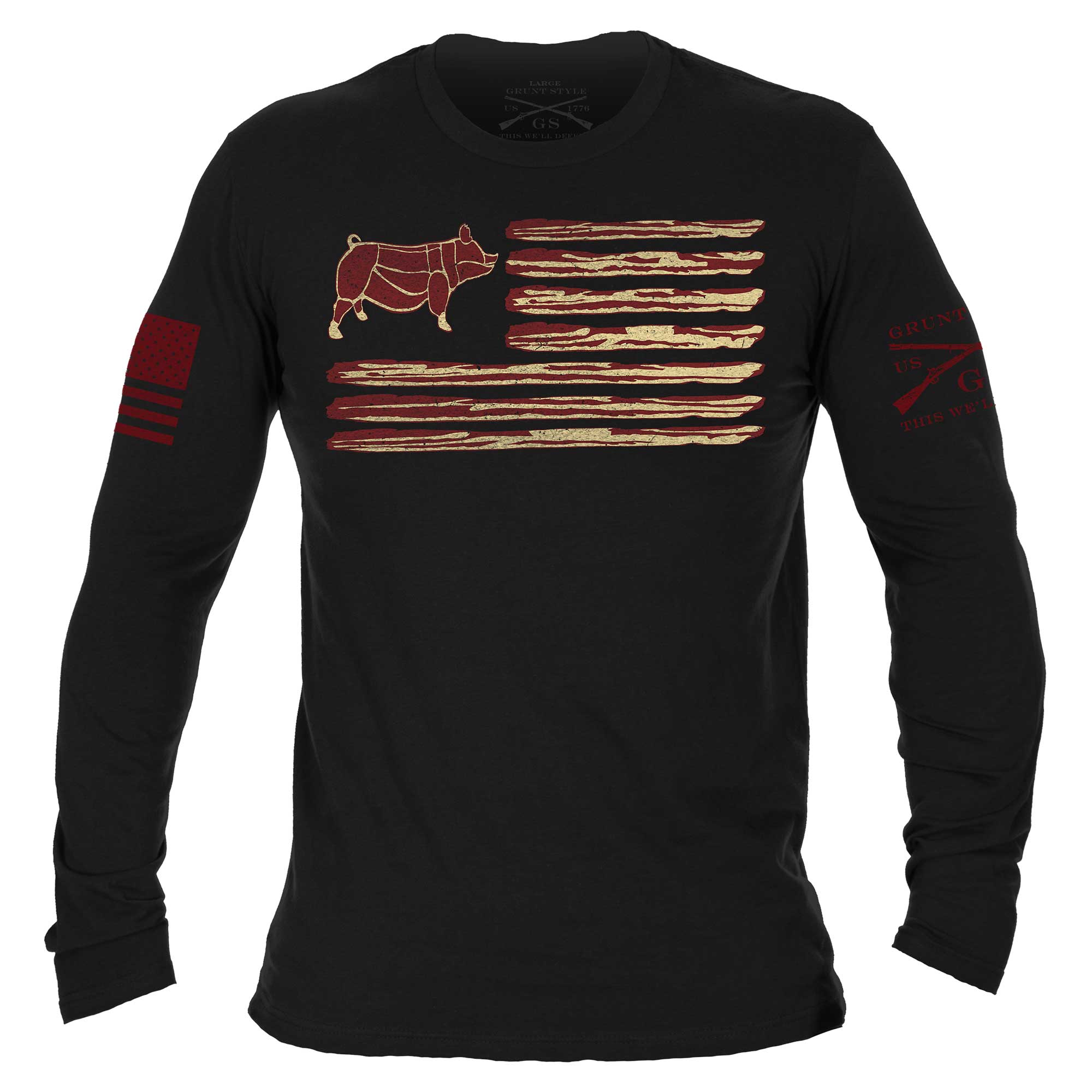 Bacon Flag Long Sleeve