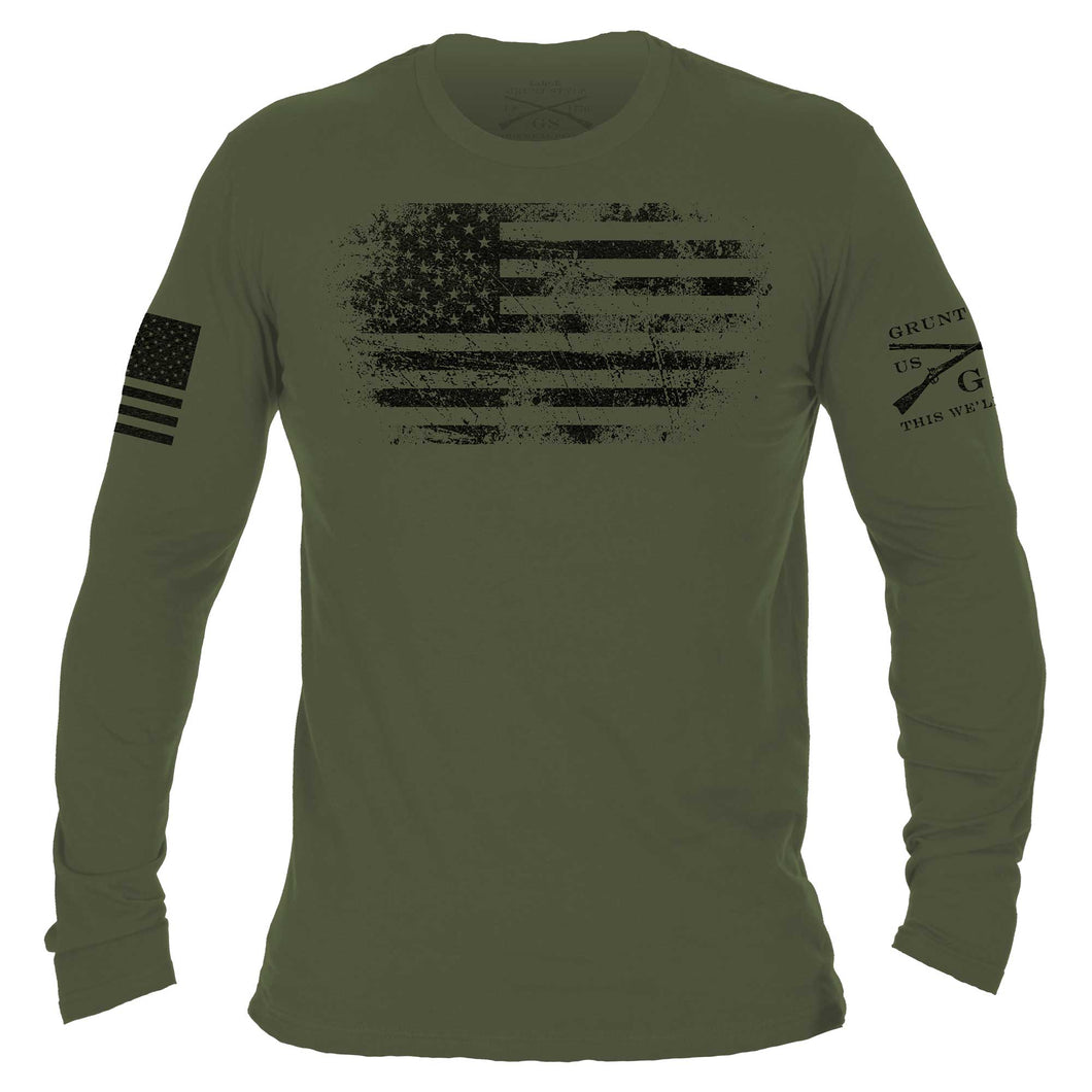 Vintage American Long Sleeve - Military Green
