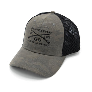 GS Logo Topography Hat - Grey