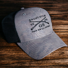 Load image into Gallery viewer, GS Logo Topography Hat - Grey
