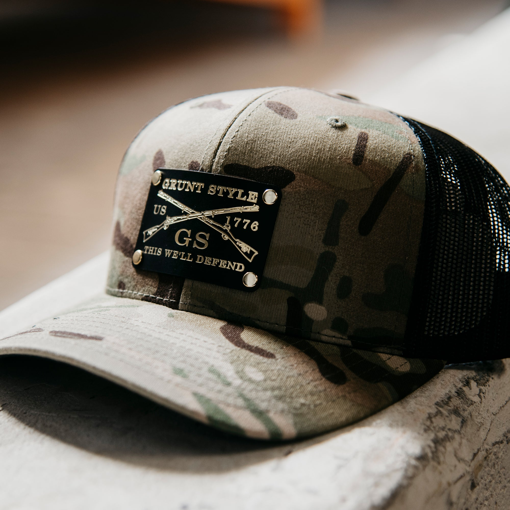 GS Multicam Hat - Brass Metal Patch
