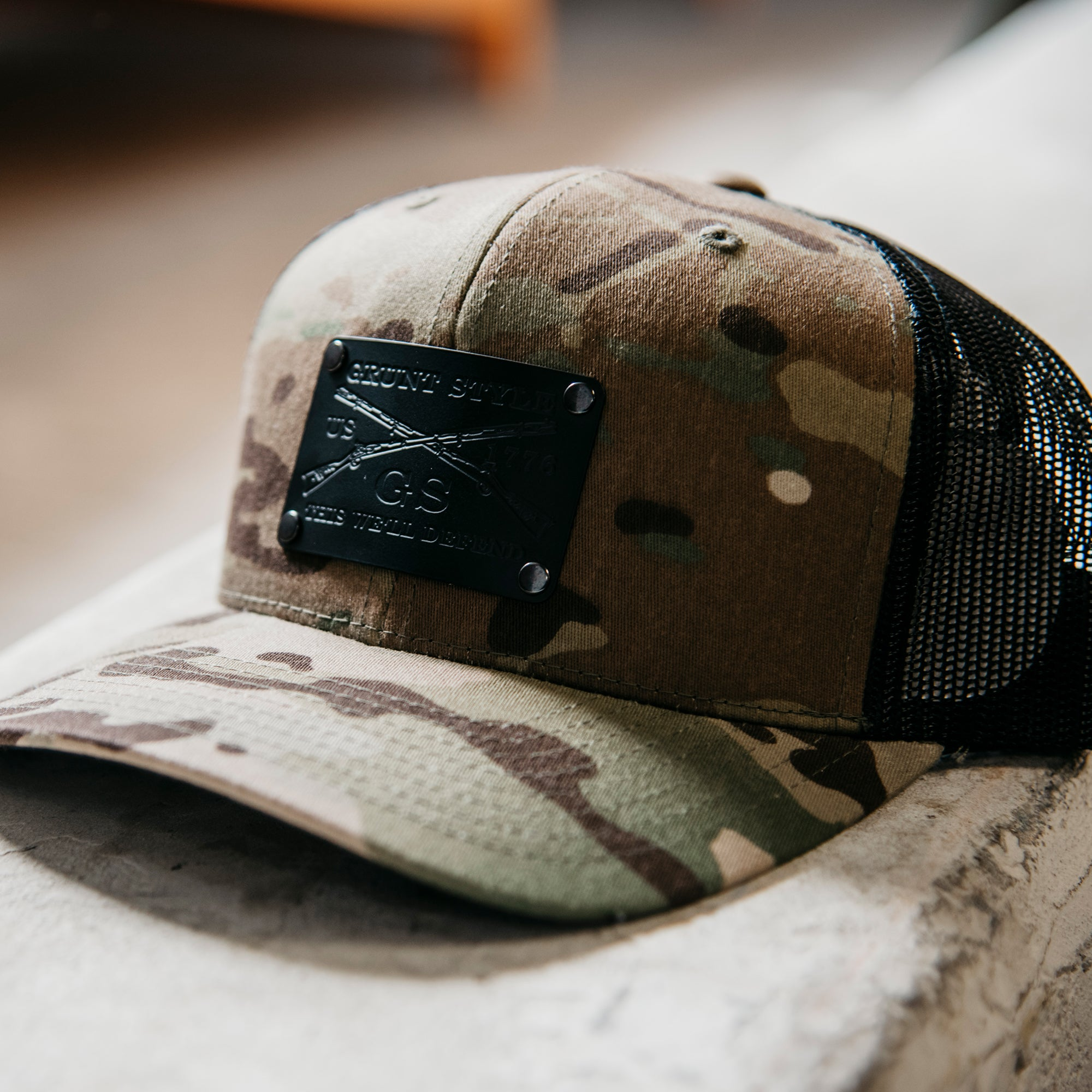 GS Multicam Hat - Black Metal Patch