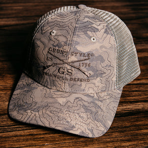 GS Logo Topography Hat - Sand