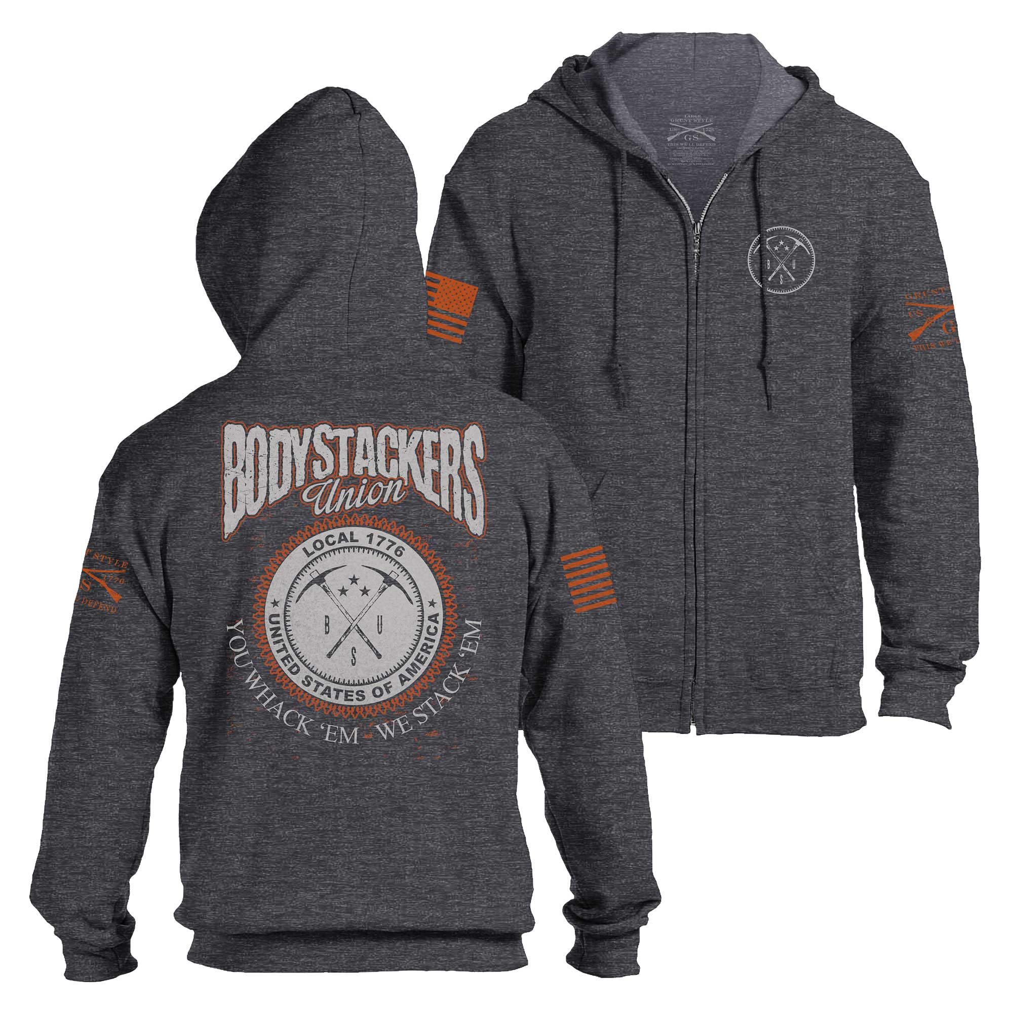 Bodystackers Union Full Zip Hoodie