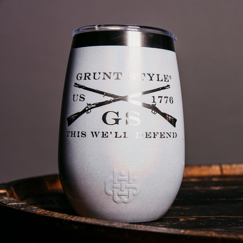 GS 12oz Whiskey & Wine Tumbler - Pearl White