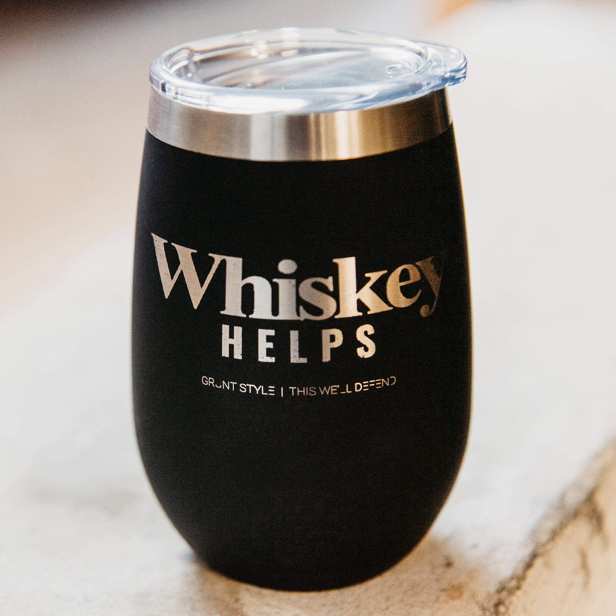 Whiskey Helps™ 12oz Tumbler