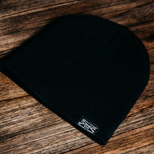 Load image into Gallery viewer, GS Woven Label Black Beanie