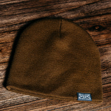 Load image into Gallery viewer, GS Woven Label Coyote Beanie