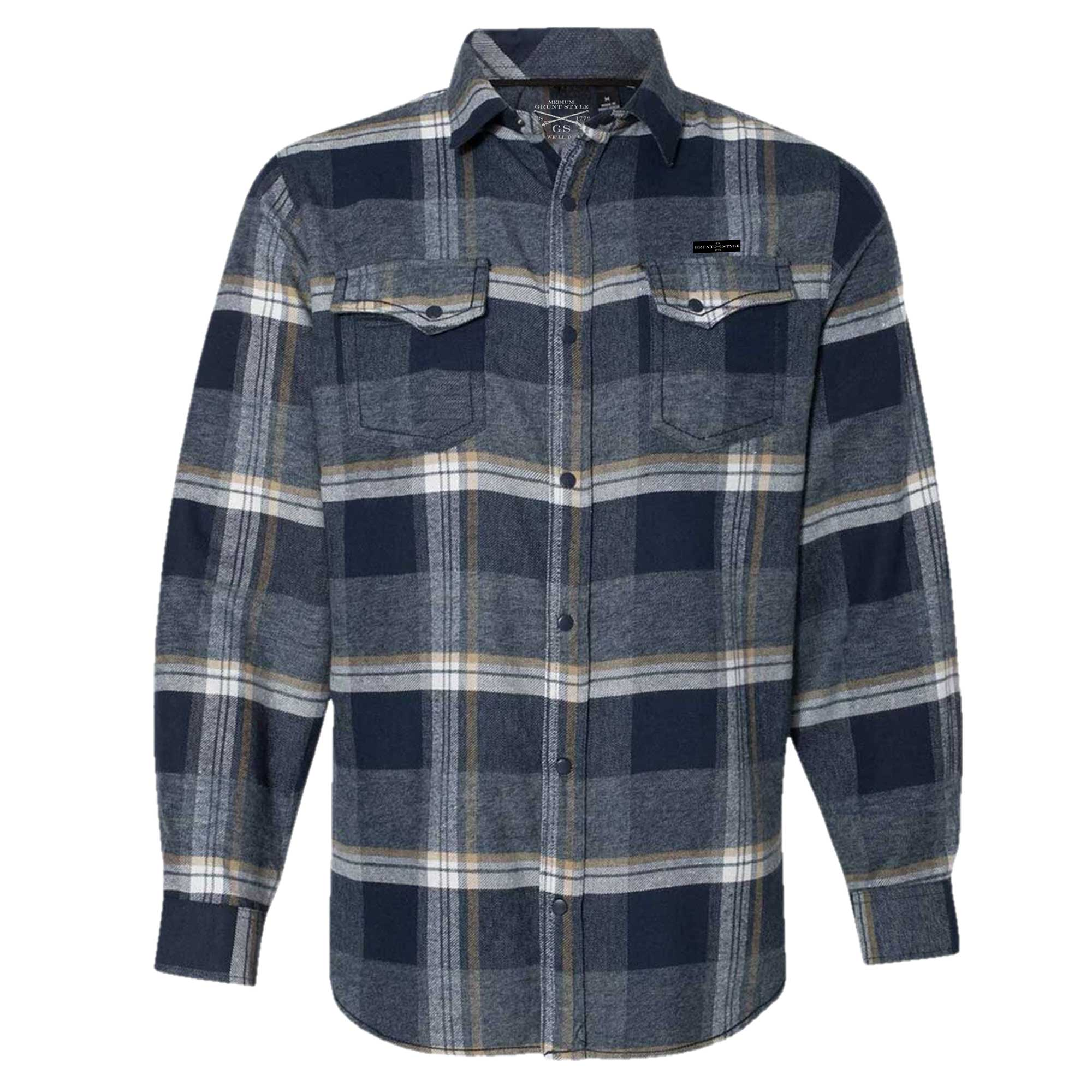 GS Snap Front Flannel Shirt - Indigo