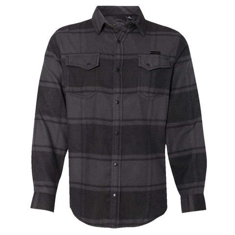 GS Snap Front Flannel Shirt - Black