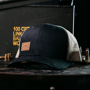 GS Logo Leather Patch Hat