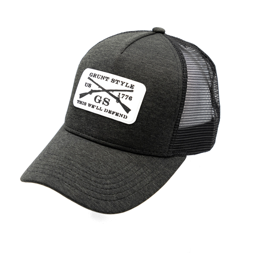 GS White Silicone Patch Hat