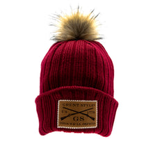 Load image into Gallery viewer, GS Logo Maroon PomPom Beanie