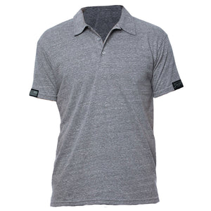GS Unisex Triblend Polo - Grey