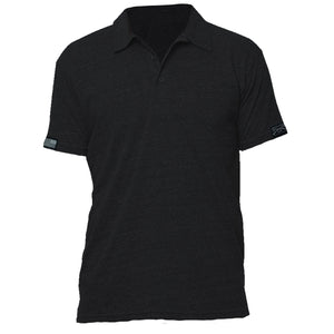 GS Unisex Triblend Polo - Black