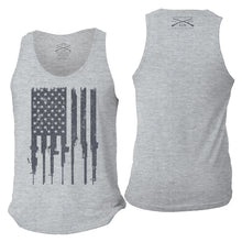 Load image into Gallery viewer, Rifle Flag Men's Tank - Heather Gray