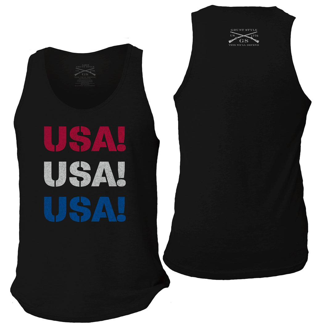 USA Men's Tank - Black