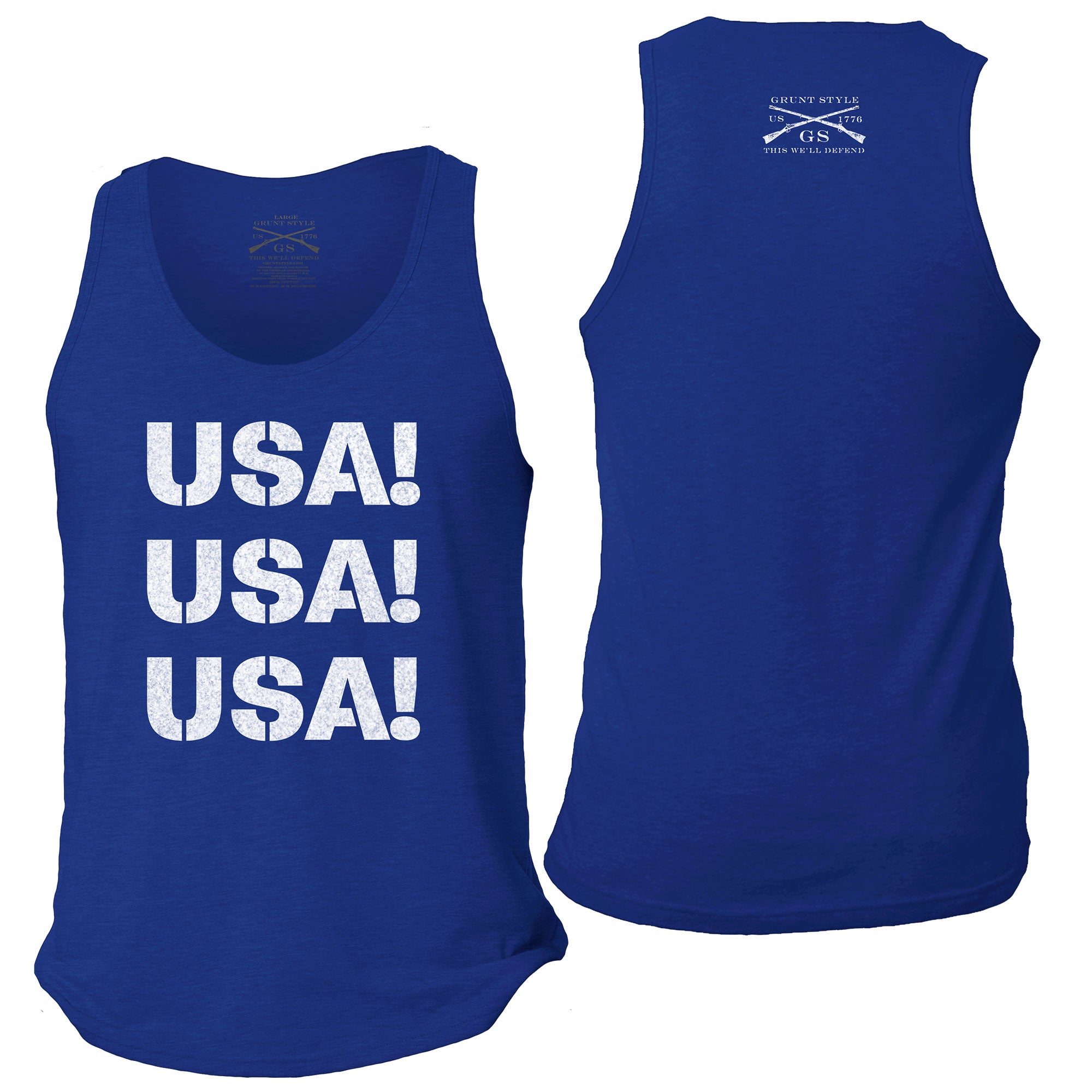 Grunt Style The Oath Tank Top Royal Blue