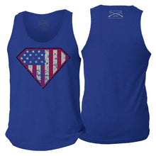 Load image into Gallery viewer, Super Patriot Men's Tank - Royal Blue