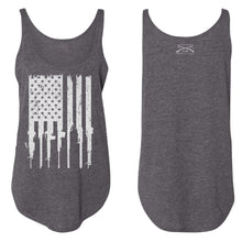 Load image into Gallery viewer, Rifle Flag Women's Flowy Tank - Charcoal