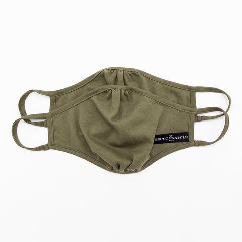 Grunt Style 2-Pack Face Mask - Military Green