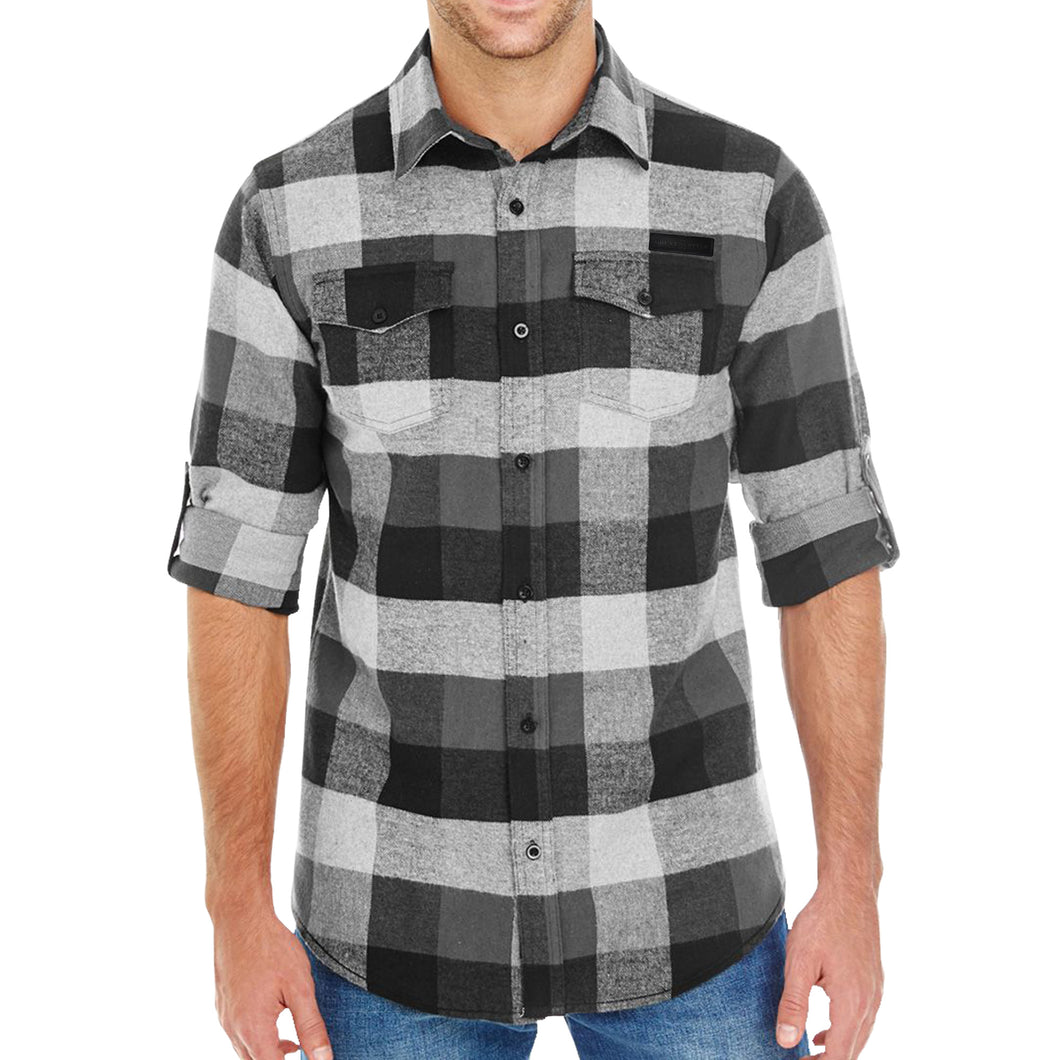 Grunt Style Black Plaid Flannel
