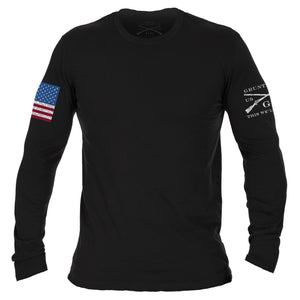 Full Color Flag Basic Long Sleeve - Black