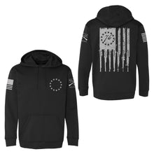 Load image into Gallery viewer, Betsy Rifle Flag Poly Hoodie