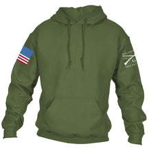 Load image into Gallery viewer, Full Color Flag Basic Hoodie - Military Green
