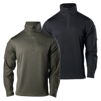 Olive and Black colors available in the Tactical 1/4 Zip Pullover
