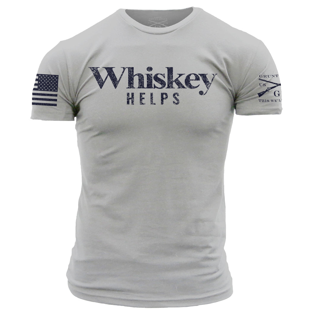Whiskey Helps™ - Light Gray