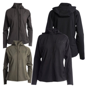 Group view of the colors offered in Women's Cold Weather Compression Jacket - Black, Olive, Asphalt