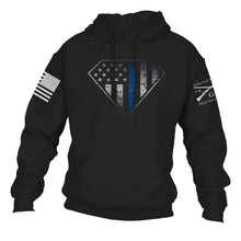 Load image into Gallery viewer, Blue Line Crest Hoodie