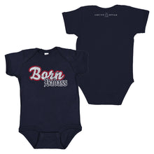 "Load image into Gallery viewer, The front and back of the Born Badass Runtsie™ with a graphic that says ""Born Badass"""