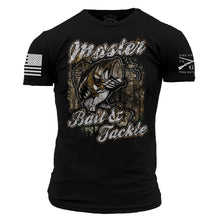 Load image into Gallery viewer, Master Bair & Tackle Men's Short Sleeve Graphic Tee in Black