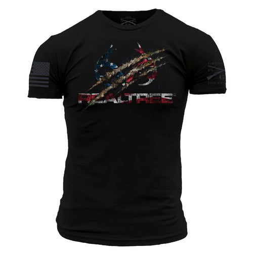 Realtree Edge Claw Men's Short Sleeve Graphic Tee in Black