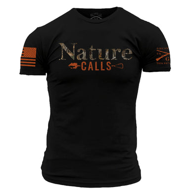 Realtree Edge Nature Calls Men's Short Sleeve Graphic Tee in Black